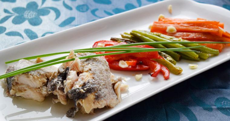 Риба със зеленчук